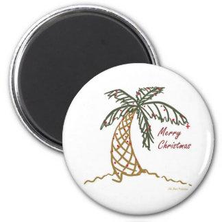 Christmas Palm Refrigerator Magnet