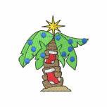 Christmas Palm Tree Embroidered Polo Shirt