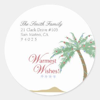 Christmas Palm Tree Return Address Labels