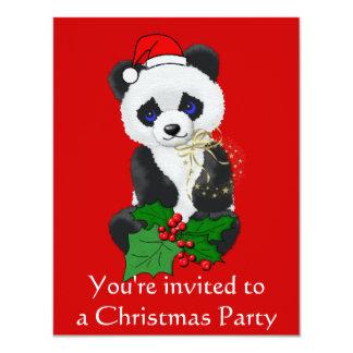 Christmas Panda 11 Cm X 14 Cm Invitation Card