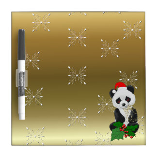 Christmas Panda Bear Dry Erase Board