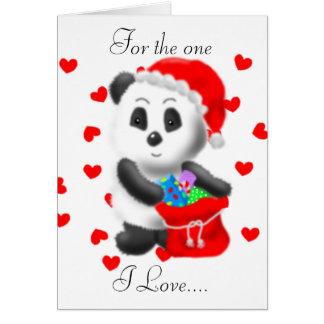 Christmas Panda Bear Greeting Card