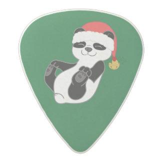 Christmas Panda Bear with Santa Hat & Jingle Bell Acetal Guitar Pick