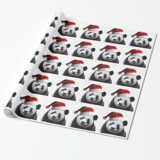 Christmas Panda Bear Wrapping Paper