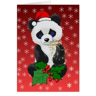 Christmas Panda Note Card