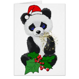 Christmas Panda Greeting Cards