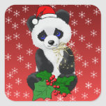 Christmas Panda Stickers