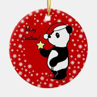 Christmas Panda Stocking Christmas Ornament