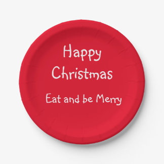 Christmas Paper Party Plates