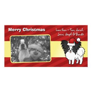 Christmas Papillon Card