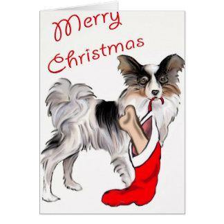 Christmas_Papillon Card