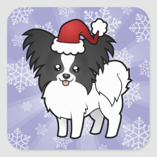 Christmas Papillon Square Sticker