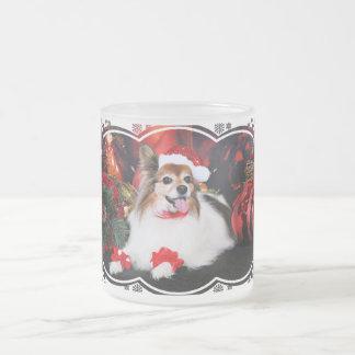 Christmas - Papillon - Sylvie Frosted Glass Mug