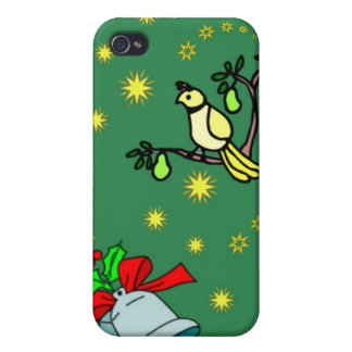 Christmas, Partridge and Drums iPhone 4 Cases
