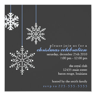 Christmas Party 13 Cm X 13 Cm Square Invitation Card