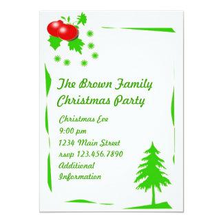 CHRISTMAS PARTY 13 CM X 18 CM INVITATION CARD