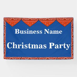 Christmas Party Banner Red Bandana
