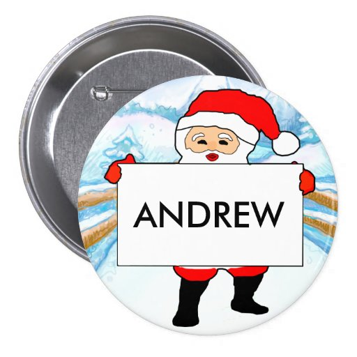 Christmas party customisable name badges pin zazzlecouk for Christmas name badges