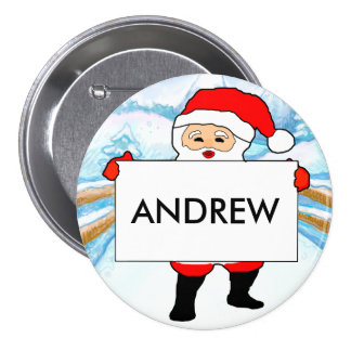 Christmas Party Customizable Name Badges Pin