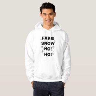 Christmas party, fun wear: Fake Snow Ho! Ho! Hoodie