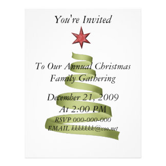 Christmas Party Gathering Flyer