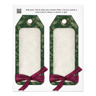 Christmas Party gift or favor Bag Tags 11.5 Cm X 14 Cm Flyer