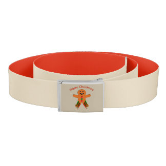 Christmas Party Gingerbread Man Belt