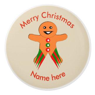 Christmas Party Gingerbread Man Ceramic Knob