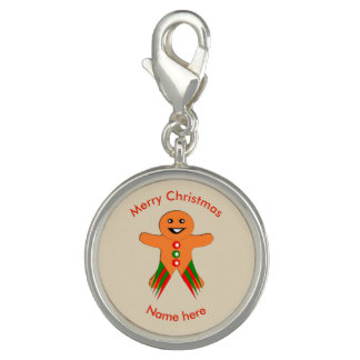 Christmas Party Gingerbread Man Charm