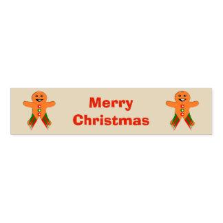Christmas Party Gingerbread Man Custom Napkin Band
