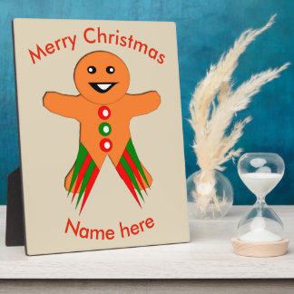 Christmas Party Gingerbread Man Custom Plaque