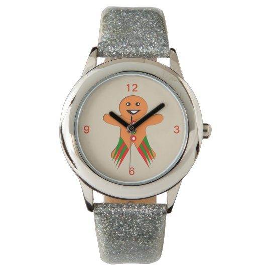 Christmas Party Gingerbread Man Kids Watch