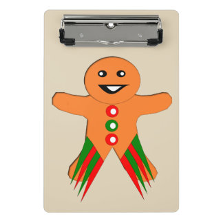 Christmas Party Gingerbread Man Mini Clipboard