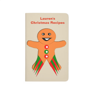 Christmas Party Gingerbread Man Recipe Journal