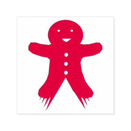 Christmas Party Gingerbread Man Self Inking Stamp