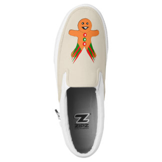 Christmas Party Gingerbread Man Slip On Shoes