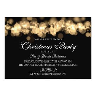 Christmas Party Gold Bokeh Lights 13 Cm X 18 Cm Invitation Card