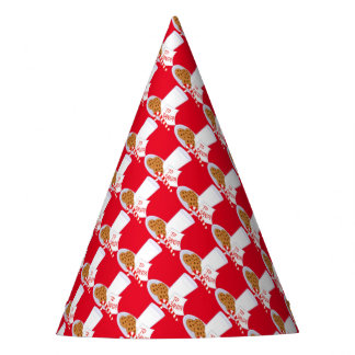 Christmas Party Hat/Santa's Cookies and Milk Party Hat