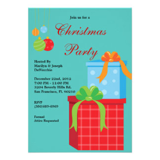 Christmas Party Holiday Invite