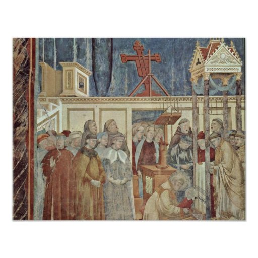 Christmas party in forest by Giotto di Bondone Posters