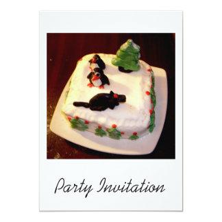 Christmas Party Invitation - Christmas Cake Photo