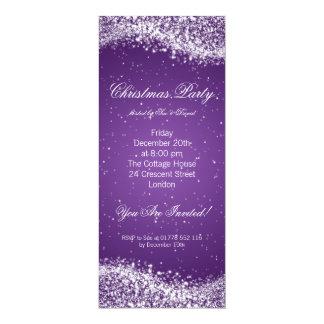 Christmas Party Invitation Elegant Sparkle Purple Custom Announcements