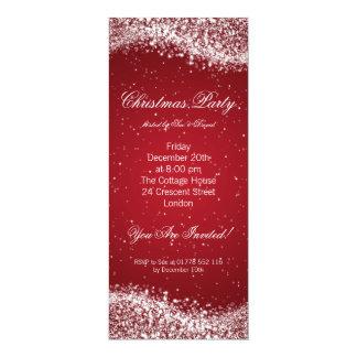 Christmas Party Invitation Elegant Sparkle Red