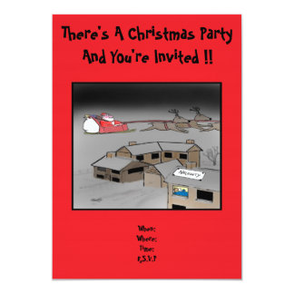 Christmas Party Invitation: Naughty Or Nice 13 Cm X 18 Cm Invitation Card