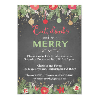 Christmas Party Invitations - Eat Drink & Be Merry