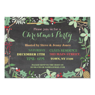 Christmas Party Mistletoe Xmas Chalkboard Invite