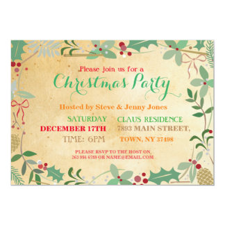 Christmas Party Mistletoe Xmas Festive Invitation