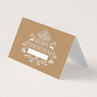 Christmas Party Name Place Card-Golden Place Card