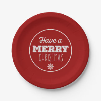 Christmas Party Paper Plates