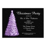 Christmas Party Purple 13 Cm X 18 Cm Invitation Card